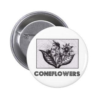 Coneflowers Runder Button 5,7 Cm