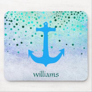 Confetti-Anker-Seeblaue Strand-Marine-Girly Punkte Mousepad