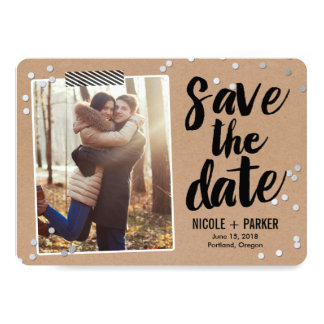 Confetti-Save the Date Karte