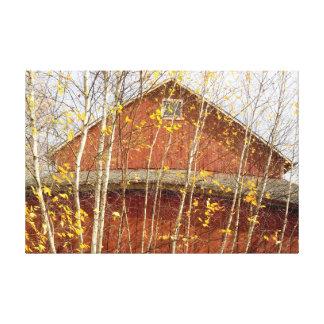 Connecticut-Scheune im Herbst Leinwanddruck