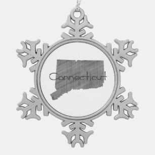 Connecticut Schneeflocken Zinn-Ornament