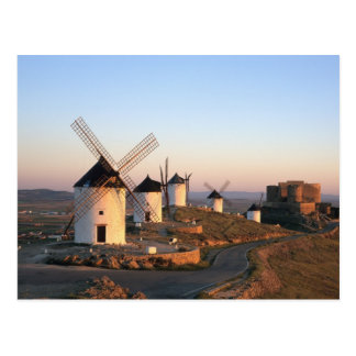 Consuegra, La Mancha, Spanien, Windmühlen Postkarte