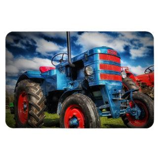 Coole blaues Rot-Antiken-Traktor-Geschenke für Bau Magnete