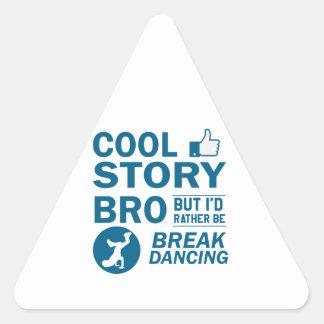 Coole Breakdanceentwürfe Dreieckiger Aufkleber