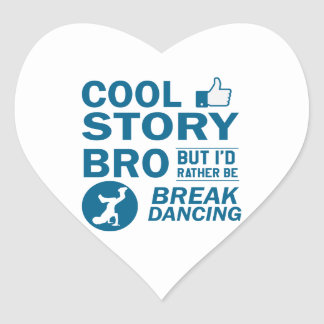 Coole Breakdanceentwürfe Herz-Aufkleber