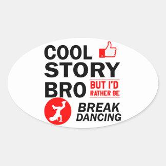 Coole Breakdanceentwürfe Ovaler Aufkleber