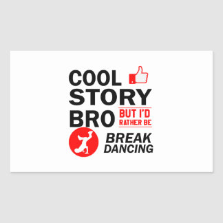 Coole Breakdanceentwürfe Rechteckiger Aufkleber