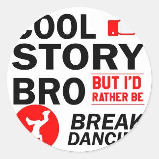 Coole Breakdanceentwürfe Runder Aufkleber