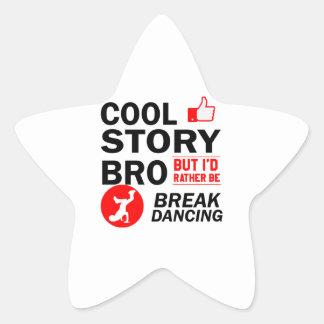 Coole Breakdanceentwürfe Stern-Aufkleber