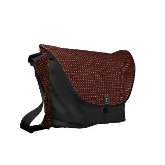 Coole Browen schwarze Bote-Taschen-äußerer Druck Kuriertaschen