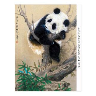 Coole chinesische niedliche süße flaumige postkarte