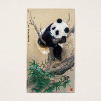 Coole chinesische niedliche süße flaumige visitenkarte