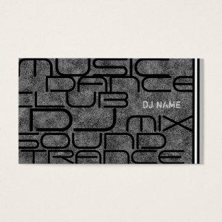 Coole DJ-Geschäfts-Karte Visitenkarte