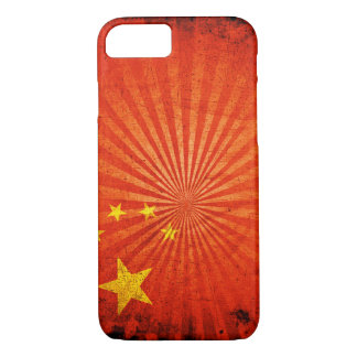 Coole Grunge-Chinese-Flagge iPhone 8/7 Hülle