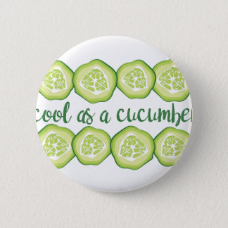 Coole Gurke Runder Button 5,7 Cm