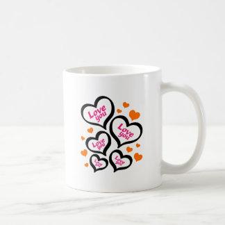 coole Liebeherzen Tasse