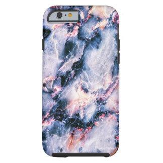Coole Marmorbeschaffenheit blauer rosa weißer Tough iPhone 6 Hülle