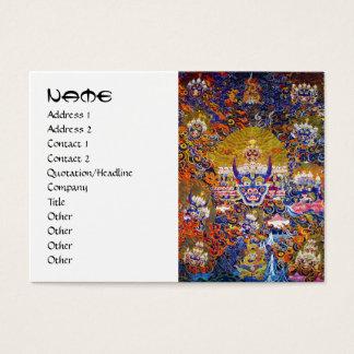 Coole orientalische tangka Yamantaka Jumbo-Visitenkarten