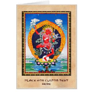 Coole orientalische tibetanische thangka mitteilungskarte