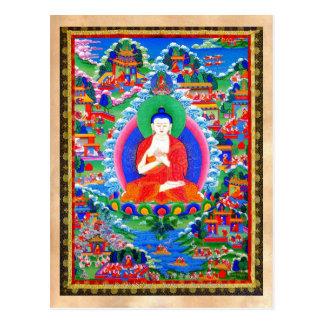 Coole orientalische tibetanische thangka postkarte
