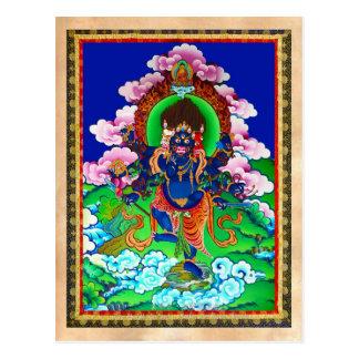 Coole orientalische tibetanische thangka Ucchusma Postkarten