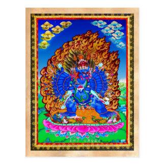 Coole orientalische tibetanische thangka Yamantaka Postkarte