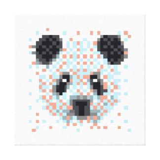 Coole Panda-Pixel-Kunst Leinwanddruck
