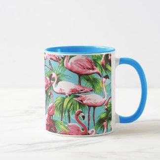 Coole Retro rosa Flamingo-Tasse Tasse