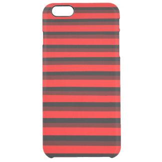 COOLE rote und schwarze Muster Durchsichtige iPhone 6 Plus Hülle