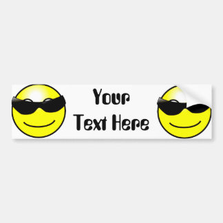 Coole Sonnenbrille-gelber Smiley Autoaufkleber