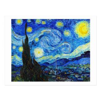 Coole Starry Nachtvincent van gogh Malerei Postkarten