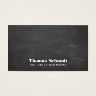 Coole Tafel Blick Schwarz Visitenkarte