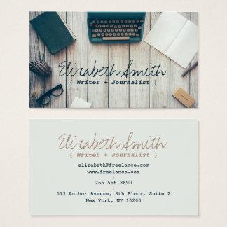 Coole Vintage Schreibmaschine des Verfasserautors Visitenkarten