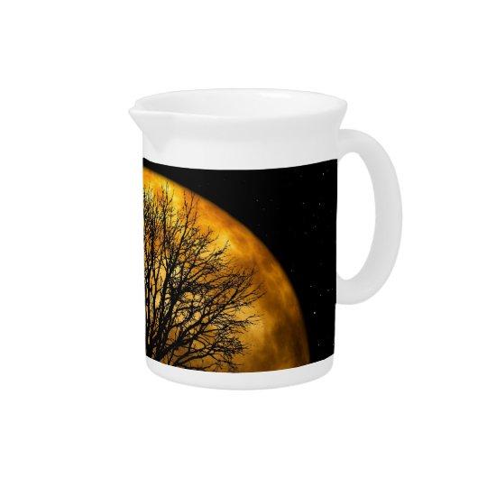 Coole volle Ernte-Mond-Baum-Silhouette-Geschenke Krug