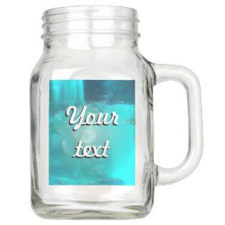 Cooler aquamariner blauer flüssiger Plastikentwurf Einmachglas
