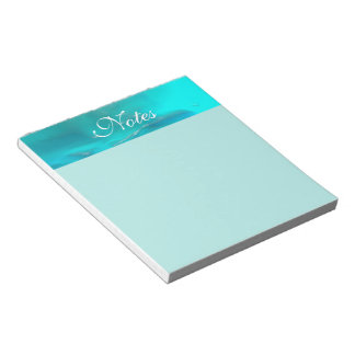 Cooler aquamariner blauer flüssiger Plastikentwurf Notizblock