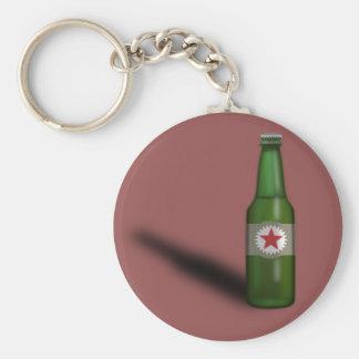 Cooler Bierflasche-Entwurf Schlüsselanhänger