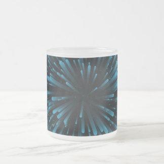 Cooler blauer Explosions-Entwurf Matte Glastasse