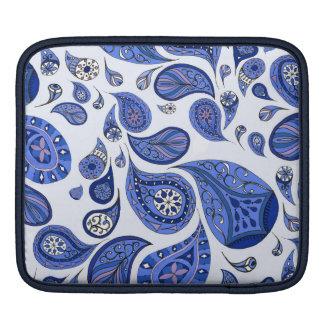 Cooler blauer Teardrops iPad Kasten iPad Sleeve