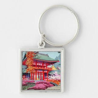 Cooler japanischer roter Tempel-Frühling Asano Schlüsselanhänger