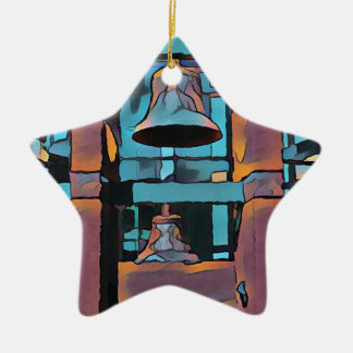 Cooler künstlerischer Türkis magentarote hängende Keramik Ornament