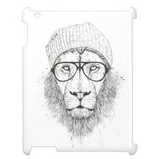Cooler Löwe (Schwarzweiss) iPad Hülle