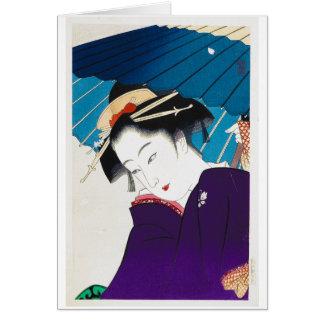 Cooler orientalischer Takane Koko Geisha mit Mitteilungskarte