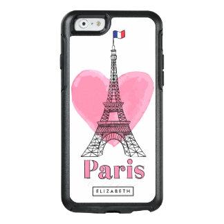 Cooler rosa Paris-Liebe-Eiffel-Turm OtterBox 6 OtterBox iPhone 6/6s Hülle