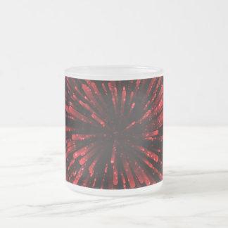 Cooler roter Explosions-Entwurf Matte Glastasse