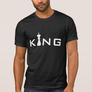 Cooler Schach-Spieler König-Typography T-Shirt