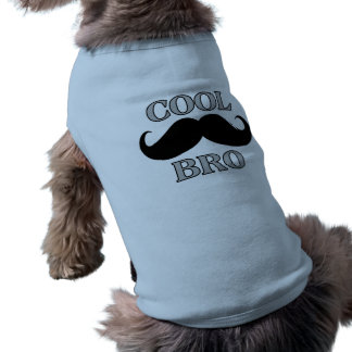 Cooler Schnurrbart Bro Ärmelfreies Hunde-Shirt