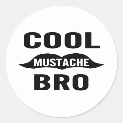 Cooler Schnurrbart Bro Aufkleber