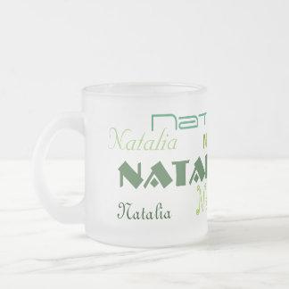 Cooler Schriftart Ihr Name personalisiert Matte Glastasse