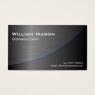 Cooler schwarzer rostfreier Stahl gekurvt, Visitenkarten
